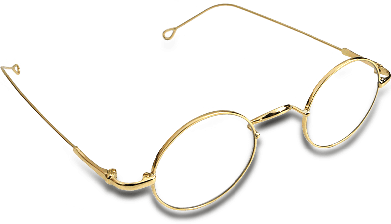 Gold spectacles